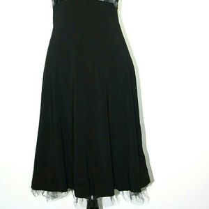 B Darlin Dresses - B Darling Halter Dress Black Flirty Tulle Lining